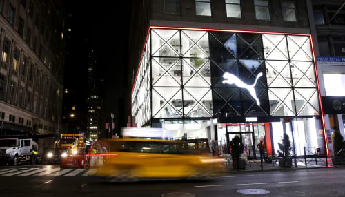 Architecture by AKTTEM seen at 5th Avenue, New York - PUMA Flagship Store, NYC