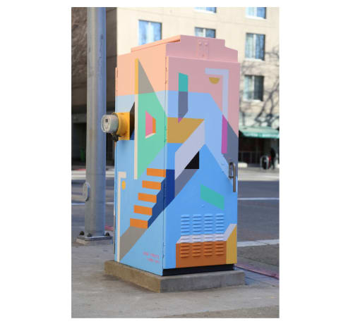 Street Murals by Muzae Sesay seen at 550 10th St, Oakland - Cold Streets, Warm City