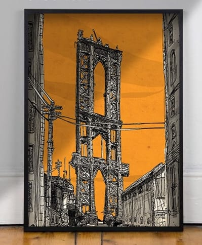 Macrame Wall Hanging by Eric Rosner seen at Private Residence, Chelsea, Manhattan, New York, New York - Manhattan Bridge Art