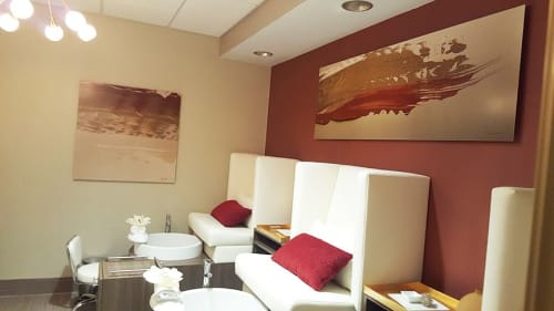 Paintings by Pamela Nielsen Contemporary Art seen at The Spa at Horseshoe, Robinsonville - The Spa at Horseshoe Series of Paintings