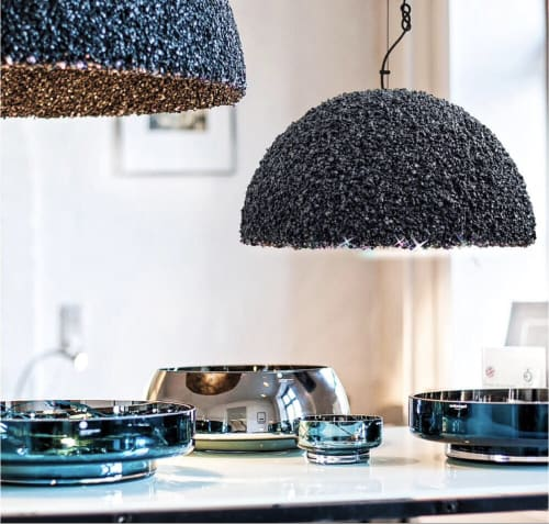 Pendants by Marie Burgos Design seen at Private Residence, New York - THE DUCHESS PENDANT LIGHT - BLACK