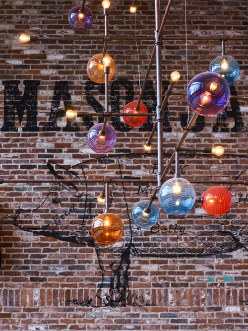 Chandeliers by KEEP seen at Gotham Market at The Ashland, Brooklyn - Gotham Chandelier