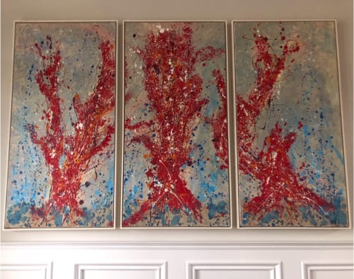Paintings by Elmira Lilic seen at Private Residence, Bowling Green - Red Touchstone