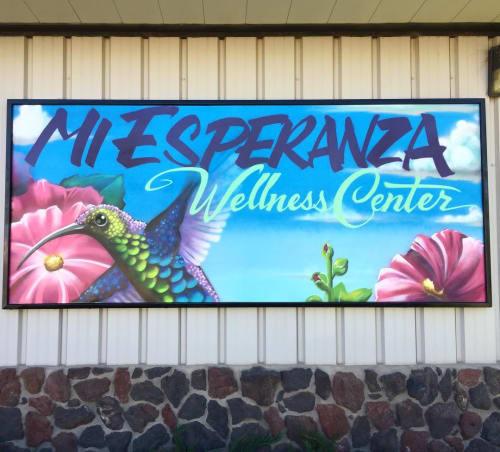 Murals by ZEHB ONE seen at Mi Esperanza Wellness Center ~ Walk-in Crisis Center, Alamosa - Wall Mural
