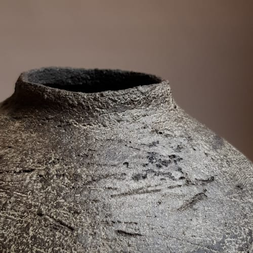Ceramic Plates by Elena Vasilantonaki seen at Private Residence, Athens - Volcanic Bowl