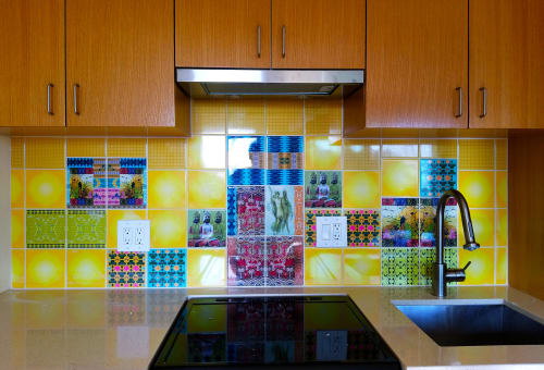 Art & Wall Decor by BRUCE SAMIA art&design at Private Residence, Los Angeles - custom designed ceramic tile kitchen backsplash