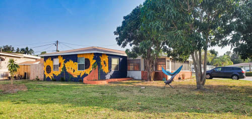 Murals by The Happy Mural Project seen at Private Residence, Kenneth City - The Happy Mural Project Wall No. 3