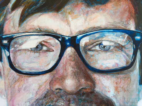 Paintings by Benjamin Parks seen at Hotel Indigo Kansas City – the Crossroads, Kansas City - Large scale contemporary paintings
