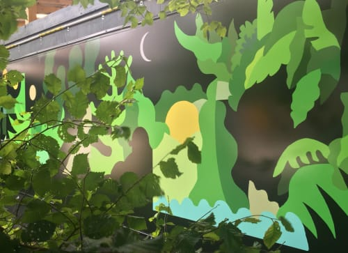 Art & Wall Decor by FIKARIS seen at South Yarra Station, South Yarra - In Time