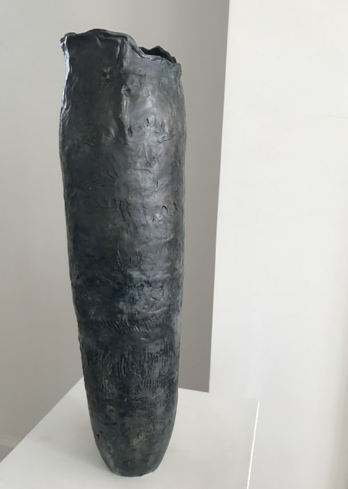 Vases & Vessels by Helene Fleury seen at Private Residence, Quebec City - Wood Fired High Vase