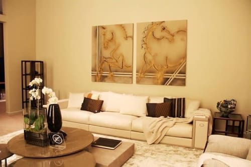 Paintings by Donna B Fine Art seen at Private Residence, West Hollywood - TwoGether
