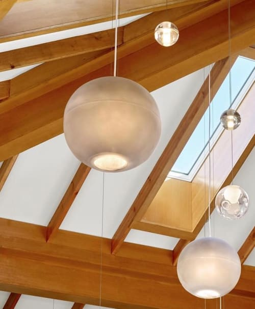 Pendants by Tina Frey seen at Laird Family Estate, Napa - Custom Resin Fixtures