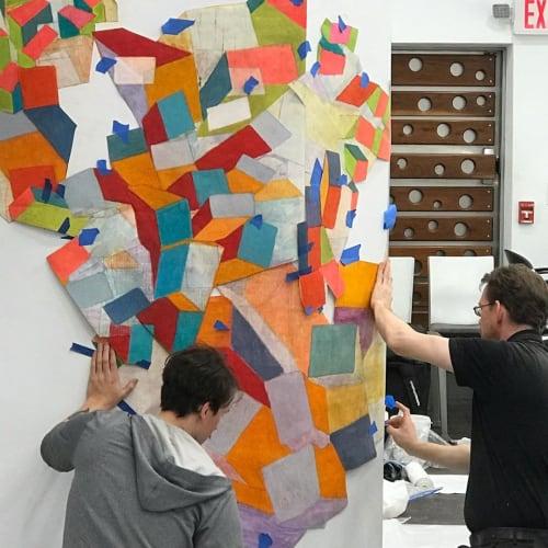 Murals by Margery Amdur seen at Richard Nicholas Hair Studio, Philadelphia - Site Specific Wall Mural