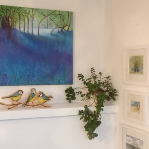 Paintings by Gerry Wilmer seen at Private Residence, Brighton - Bluebell Wood