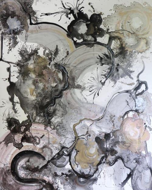 Paintings by Amanda M Moody seen at Private Residence, Cornelius - tumbling dice