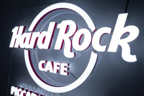 Lighting Design by Kemp London seen at Hard Rock Cafe, Las Vegas - NEONPLUS - NEON EFFECT LED