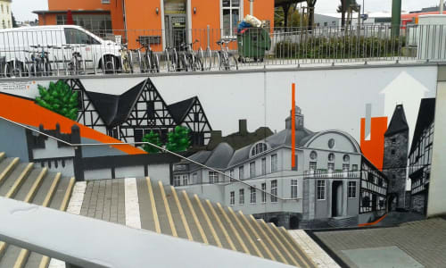 Street Murals by Semor the mad one seen at Hennef, Hennef - Commission with Octagon