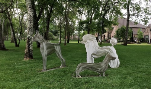 Public Sculptures by jim collins sculpture seen at Missouri City, Missouri City - SIENNA PLANTATION KENNEL COLLECTION