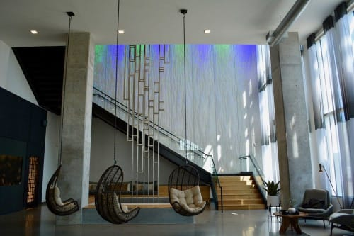 Sculptures by Patrick Pryor seen at Nordhaus Apartments, Minneapolis - Yggdrasil