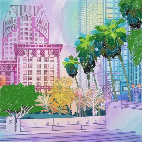 Paintings by Elizabeth Gahan seen at George Billis Gallery La Inc, Los Angeles - Deco Details