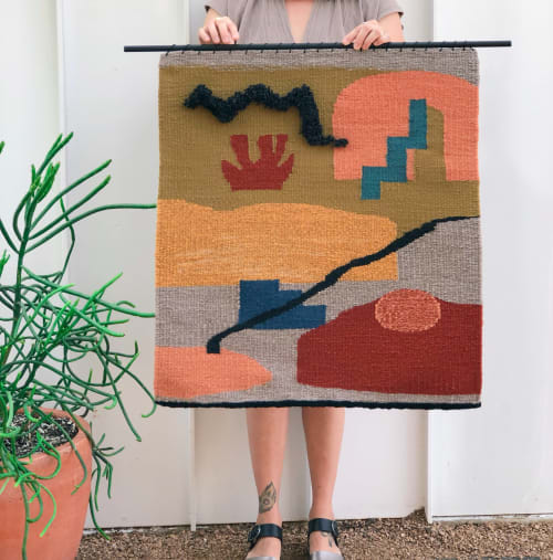 Wall Hangings by Zanny Adornments seen at Private Residence - Austin, TX, Austin - Woven Wall Hanging