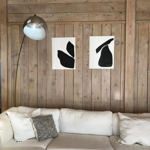 Paintings by Flora and Form seen at Private Residence, Miami - Ink On Paper