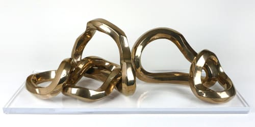 Sculptures by Ron Dier Design seen at Thomas Lavin, Laguna Niguel - Ceramic Bangle Sculpture