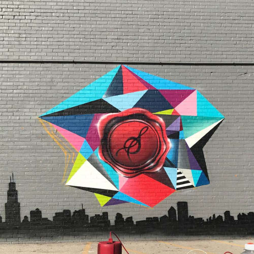 Murals by Phillip Scott seen at Society 2201, Chicago - Mural