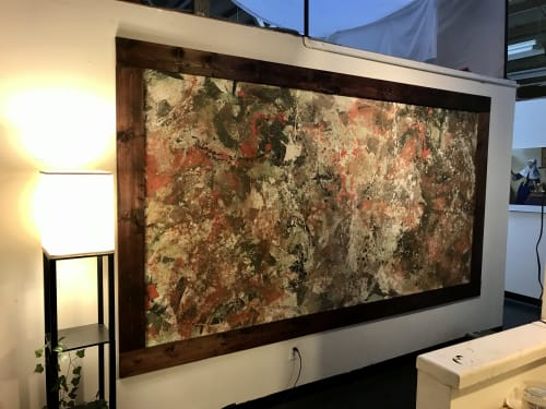 Paintings by Chalavie seen at Creator's Studio, Los Angeles - Abstract 002