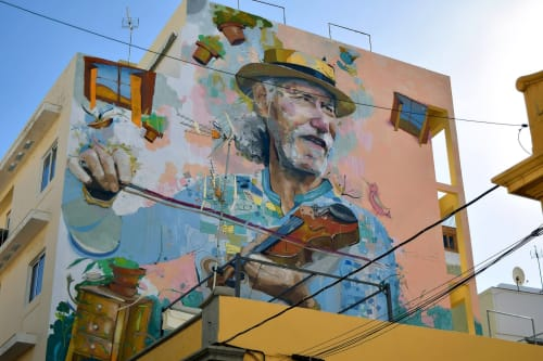 Street Murals by IONE DOMINGUEZ seen at Santa Cruz de Tenerife, Santa Cruz de Tenerife - IONEDOMINGUEZ
