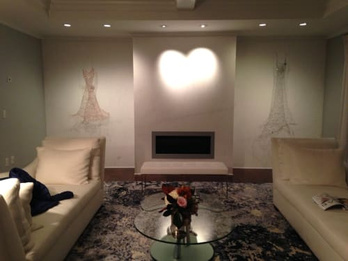 Art & Wall Decor by Susan Freda seen at Private Residence, Portsmouth - Cupre Spiritus & Vitro Micans