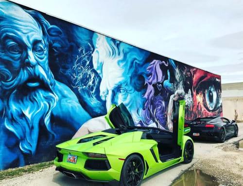 Street Murals by SRIL ART seen at South Salt Lake, South Salt Lake - Godlike