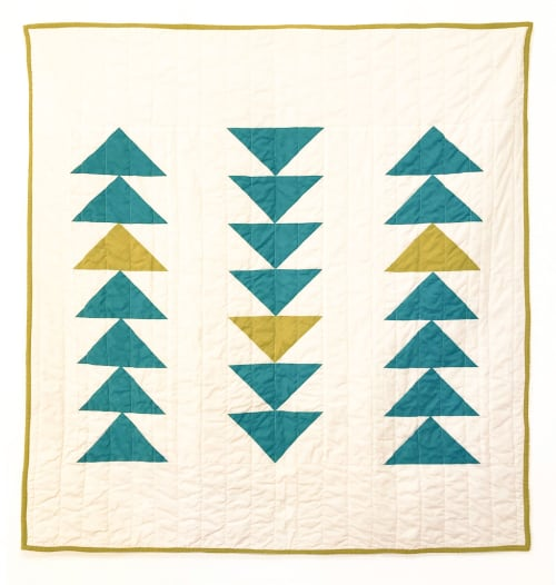 Linens & Bedding by Studio Prismatic seen at Creator's Studio, Portland - Through the Trees Quilt in 100% Organic Cotton