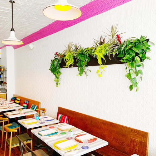 Plants & Flowers by The Parlour Studio seen at La Condesa, Prince Edward - Botanical Wall Installation
