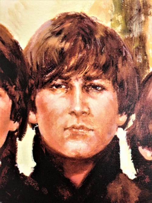 "Paintings by LUCIA SARTO seen at Bibione Beach, Bibione - ""THE BEATLES"""