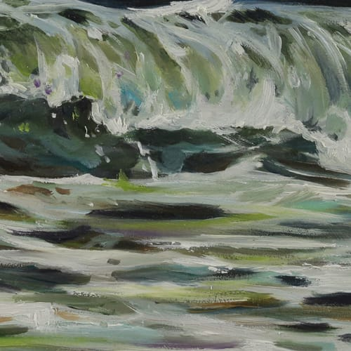 Paintings by Lindsey Millikan (Milli) seen at Private Residence, San Francisco - Ocean #19