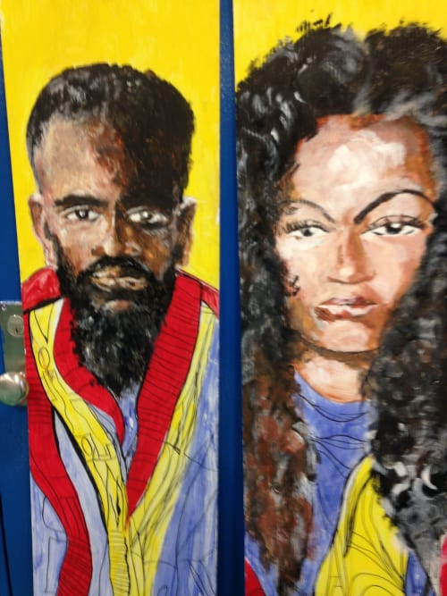 Murals by Rich T. seen at Harlem, New York - Mural Pieces For Holiday Event.