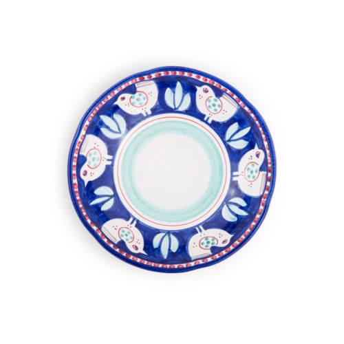 Ceramic Plates by Ceramica Assunta Positano seen at Le Sirenuse Miami, Surfside - Blue Hen Design Soup bowl 8,5 inch (Animal Decorations)