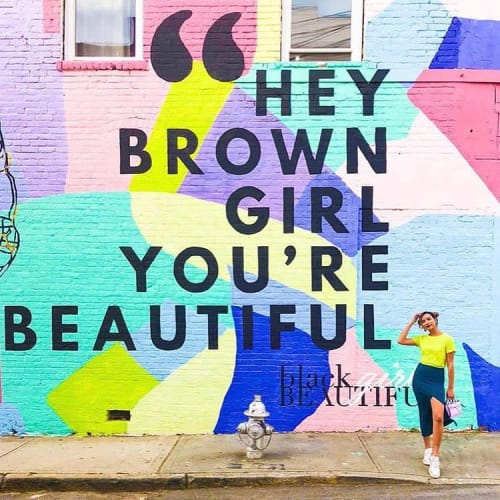 Street Murals by DAPPHER seen at 333 Peters St SW, Atlanta - #HeyBrownGirlMural