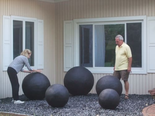 """Art Curation by J.A. Mayer """"Sculptor"""" seen at Private Residence, Columbiana - """"Spheres"""""""
