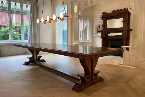 Interior Design by French Tables seen at Private Residence - Federation Queenslander Parquetry Table