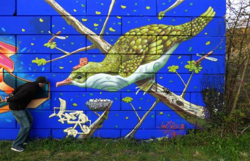 Murals by lerart seen at Boortmeerbeek, Boortmeerbeek - bird