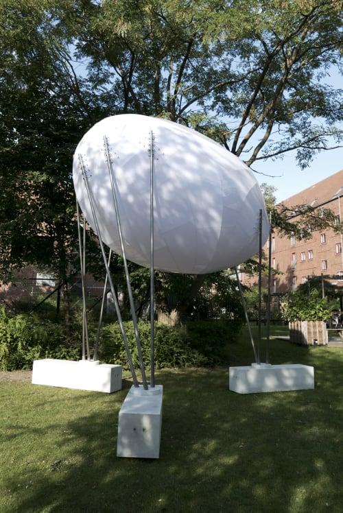 Public Sculptures by SHJWORKS seen at Thorsgade, København - The Cloud