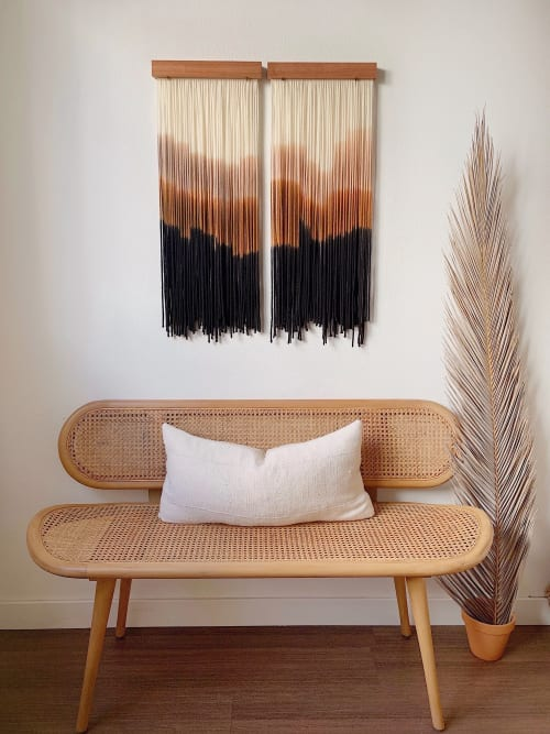 Wall Hangings by Kait Hurley Art seen at Private Residence, Seattle - Desert at Sunset pair