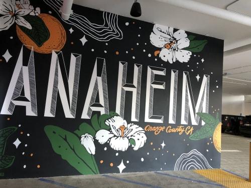 Street Murals by Pandr Design Co. seen at 255 N Anaheim Blvd, Anaheim - Anaheim Mural