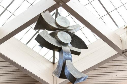 Sculptures by Richard Warrington seen at Columbia Basin College, Pasco - Gemini II