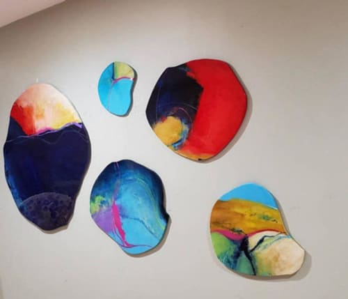 Paintings by Judy Mintze Original Artwork seen at Fishers, Fishers - Abstract Wall Sculptures