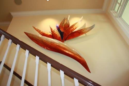 Sculptures by Richard Warrington seen at Harken Dental, Spokane Valley - Bird of Paradise