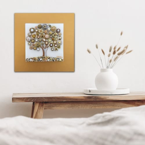 """Art & Wall Decor by Cami Levin seen at Creator's Studio, Dana Point - Tree of Love - """"Frosted Pearls"""""""
