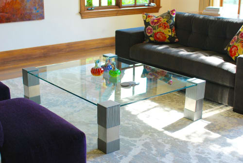 Tables by Andi-Le seen at Private Residence, Snowmass - Formations Cocktail Table